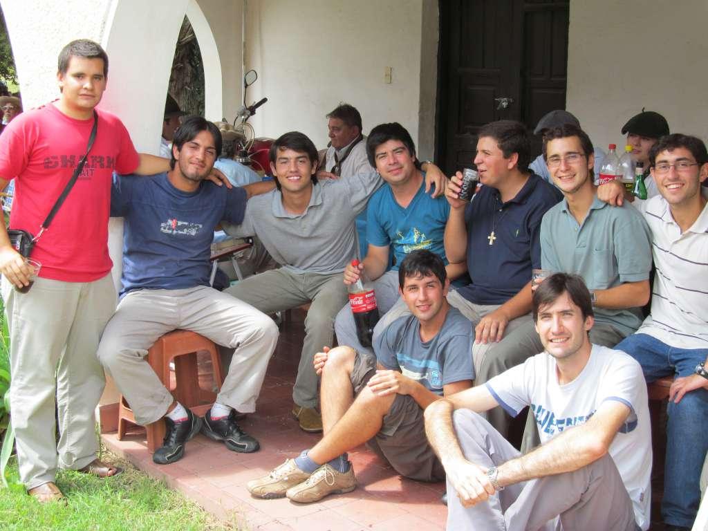 Seminaristas en Las Peñas