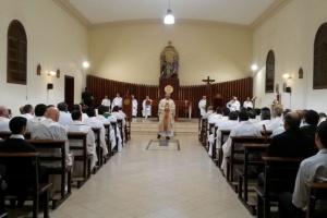 Cumpleaños de Mons. Uriona en el Seminario