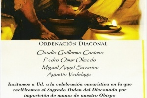 Ordenaciones diaconales en la Diócesis de Villa María